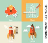 flat design modern vector... | Shutterstock .eps vector #181750031