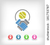 tennis fairplay icon | Shutterstock .eps vector #181753787