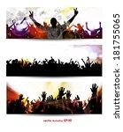 music banners set. vector | Shutterstock .eps vector #181755065