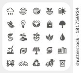ecology icons set   Shutterstock .eps vector #181756934