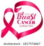 october breast cancer awareness ... | Shutterstock .eps vector #1817576867