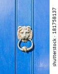 Antique Door Knocker On A...
