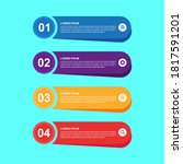 business infographic 4 steps... | Shutterstock .eps vector #1817591201