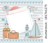 travel card design. | Shutterstock .eps vector #181761275