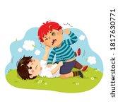 vector illustration cartoon of...   Shutterstock .eps vector #1817630771