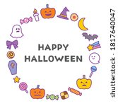cute circular frame for...   Shutterstock .eps vector #1817640047
