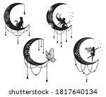 set of ethnic crescent moon...   Shutterstock .eps vector #1817640134