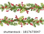 christmas garlands from tree... | Shutterstock . vector #1817673047