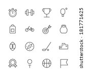 thin line icons for sport.... | Shutterstock .eps vector #181771625