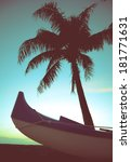 retro styled photo of outrigger ...