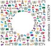 soccer background icons set.... | Shutterstock .eps vector #181771679