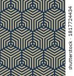 seamless hexagon pattern.... | Shutterstock .eps vector #1817724434