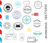 vector set of stamps and badges.... | Shutterstock .eps vector #181772555