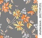 floral seamleass pattern made... | Shutterstock .eps vector #1817749151