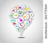 creative social network... | Shutterstock .eps vector #181775564