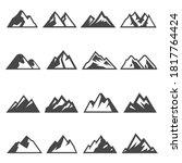 mountains  ridges bold black... | Shutterstock .eps vector #1817764424