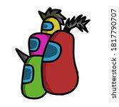 among us character game...   Shutterstock .eps vector #1817790707