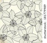 pattern floral seamless  eps 10   Shutterstock .eps vector #181779989