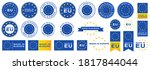 labeling   made in europe. flat ... | Shutterstock .eps vector #1817844044