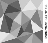 grey triangle background or... | Shutterstock . vector #181784411