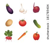 vegetables. vector illustration | Shutterstock .eps vector #181785404