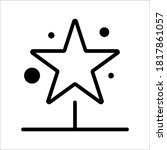 vector image of four stars on...