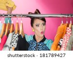 time for refreshing wardrobe... | Shutterstock . vector #181789427