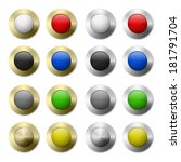 set of colorful round buttons... | Shutterstock .eps vector #181791704