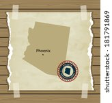 arizona map with stamp vintage... | Shutterstock .eps vector #181791869