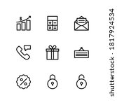 banking icons set. shopping and ... | Shutterstock .eps vector #1817924534