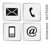 contact icons set   envelope ... | Shutterstock .eps vector #181792505