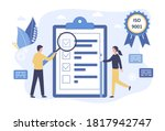 vector quality control concept. ... | Shutterstock .eps vector #1817942747