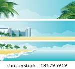 Tropical Banners. Vector...
