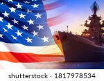 An American Ship Is Moored In...