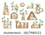 vector set of trendy home decor ... | Shutterstock .eps vector #1817980121