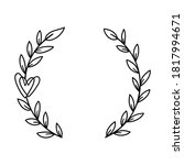 hand drawn laurel wreath with...   Shutterstock .eps vector #1817994671