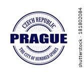 prague grunge stamp with on... | Shutterstock .eps vector #181802084