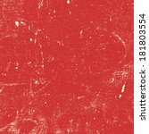 red distressed paint texture... | Shutterstock .eps vector #181803554