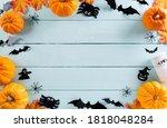 Top View Of Halloween Crafts ...