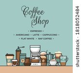 coffee banner. cup and coffee... | Shutterstock .eps vector #1818052484