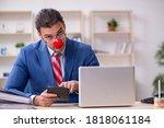 Funny Employee Clown Working I...