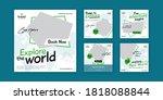travel banner  set of editable... | Shutterstock .eps vector #1818088844