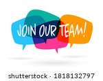 Join Our Team Banner On Speach...