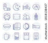icon set of insomnia medicine... | Shutterstock .eps vector #1818138437