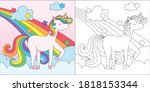 a coloring book suitable for... | Shutterstock .eps vector #1818153344