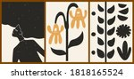 set of three abstract... | Shutterstock .eps vector #1818165524