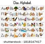 german deutsch abc alphabet set ... | Shutterstock .eps vector #1818167417