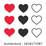 collection of heart... | Shutterstock .eps vector #1818171587