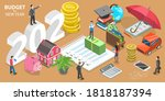budget for new 2021 year ... | Shutterstock .eps vector #1818187394