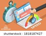 webpage loading time decreasing ... | Shutterstock .eps vector #1818187427